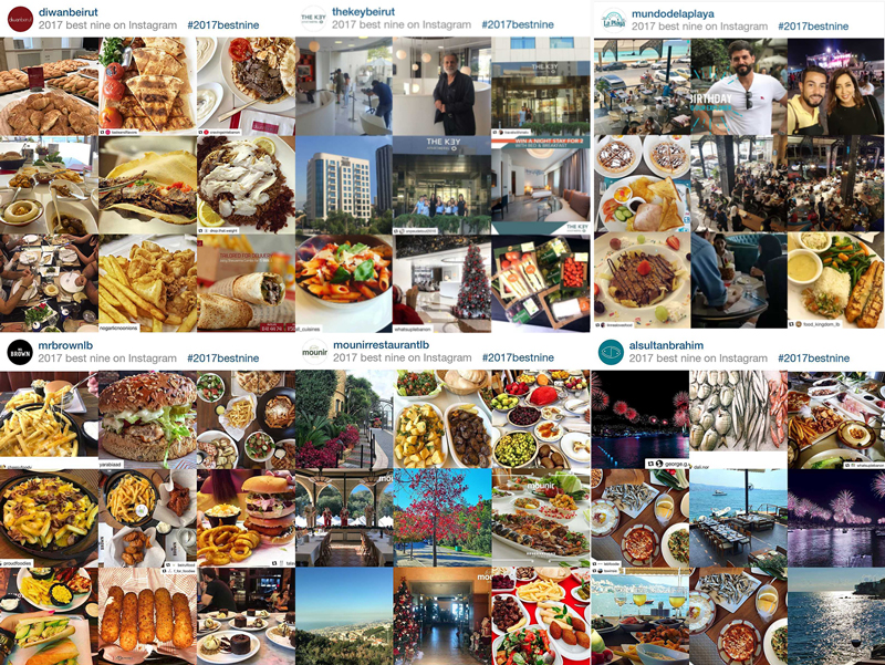 Best 9 Instagram Posts of 2017 for some of our clients