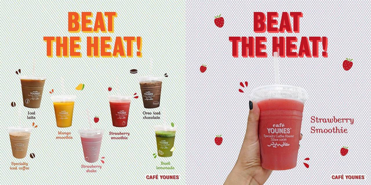 Cafe Younes -Beat The Heat Campaign - Visuals